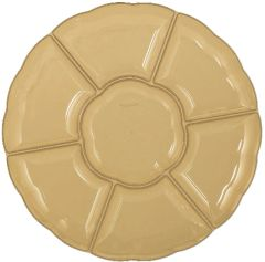 Gold Dip & Chip Scalloped Platter, 16""