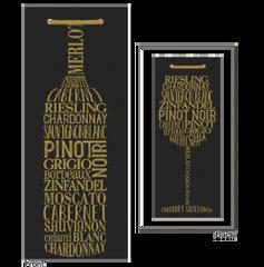 Black & Gold Wine Bottle Bag