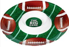 Football Chip & Dip Plastic Tray