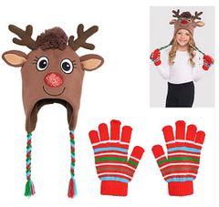 Reindeer Hat & Glove Set - Child