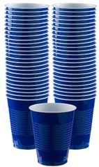 Big Party Pack Bright Royal Blue Plastic Cups, 16 oz - 50ct