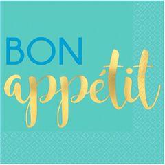 """Bon Appetit"" Beverage Napkins, 16ct"