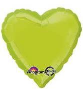 Heart 09 Kiwi Green Mylar Balloon 18in