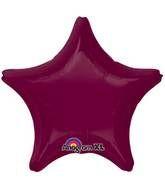 Star 38 Berry Mylar Balloon 18in