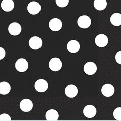 Black Dots Luncheon Napkins