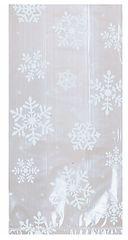 Small White Snowflake Cello Party Bags