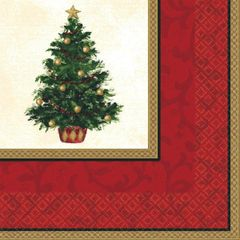 Classic Christmas Tree Luncheon Napkins