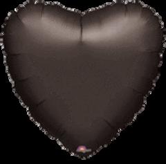 Heart 01 Black Mylar Balloon 18in