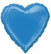 Heart 22 Periwinkle Mylar Balloon 18in