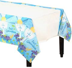 Boy's First Communion Paper Table Cover