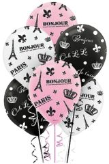 A Day in Paris Balloons, 6ct