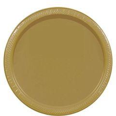 "Gold Dessert Plates, 7"" - 20ct"