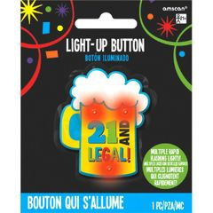 21st Brilliant Birthday Novelty Button