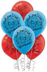 Spider-Man™ Webbed Wonder Latex Balloons, 6ct