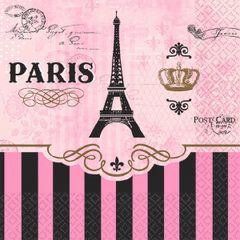 Day in Paris Beverage Napkins