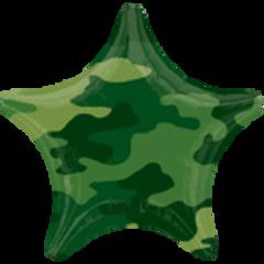 "Camouflage Star Balloon 18"""