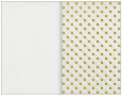 Gold Dot Specialty Tissues & Solid White Tissue Paper Sheets, 8ct