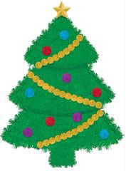 Deluxe Tinsel Tree Decoration