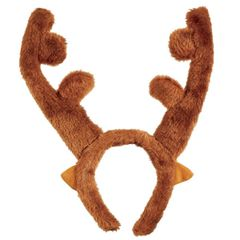 Plush Reindeer Antlers Headband