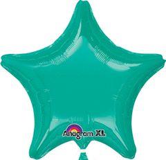Star 16 Teal Mylar Balloon 18in