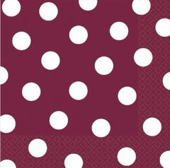Berry Dots Luncheon Napkins