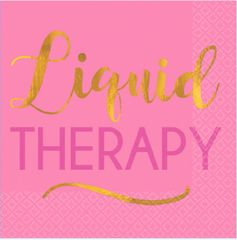 """Liquid Therapy"" Beverage Napkins, 16ct"