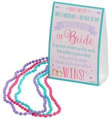 """Don't Say Wedding"" Bead Necklace Bridal Shower Game"