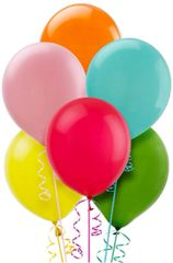 Assorted Solid Color Latex Balloons, 72ct