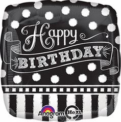 Black & White Chalkboard Birthday