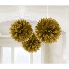 Gold Paper Fluffy Decorations