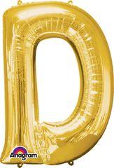 """Gold Letter D - 34"""" Mylar"""