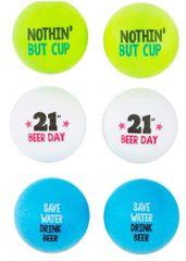 21st Brilliant Birthday Beer Pong Balls, 6ct