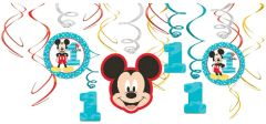 ©Disney Mickey's Fun To Be One Swirl Decorations, 12ct