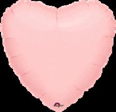 Heart 32 Pastel Pink Mylar Balloon 18in