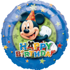 Mickey Birthday Stars 18in