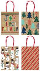 Cozy Kraft Gift Bags, 4ct