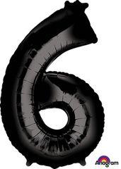 """34"""" NUMBER 6 BLACK - PKG"""