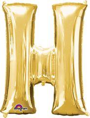 "Gold Letter H - 34"" Mylar"