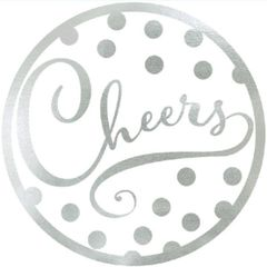 """Cheers"" Coasters, 18ct"