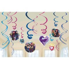 ©Disney Descendants 2 Value Pack Foil Swirl Decorations