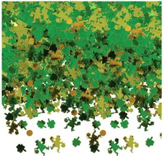 Green Shamrocks & Leprechaun Confetti
