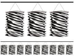 Black & White Zebra Paper Lantern Garland, 12ft