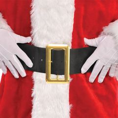 Santa's Black Belt w/Gold Buckle