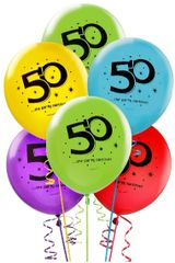 """50"" Printed Latex Balloons"