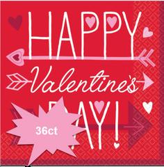 Valentine Wishes Luncheon Napkins, 36ct