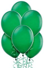 Festive Green Solid Color Latex Balloons, 72ct