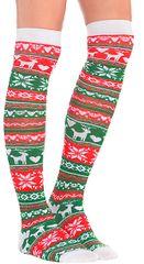 Fair Isle Christmas Over-the-Knee Socks