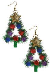 Christmas Tree Tinsel Earring Set