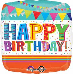 Bright & Bold Happy Birthday 18in