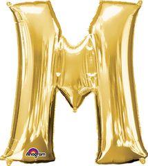"Gold Letter M - 34"" Mylar"